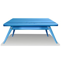 A blue table vector