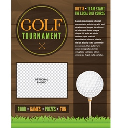 Golf tournament flyer template vector