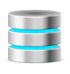 Data base icon vector