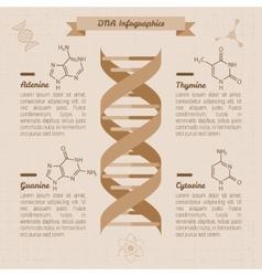 Vintage medical infographics vector