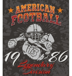 American football - for t-shirt vector