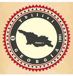 Vintage label-sticker cards of georgia vector