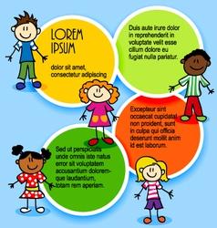 Cartoon-kids-and-color-circles vector