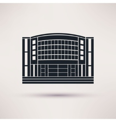 The mall building is an icon flat style vector