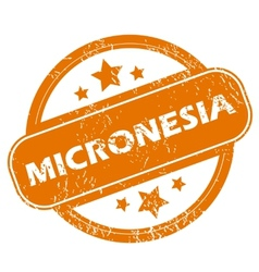 Micronesia grunge icon vector