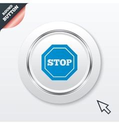 Traffic stop sign icon caution symbol vector