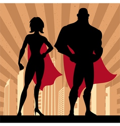 Superhero couple 4 vector