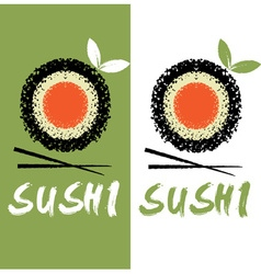Sushi design template vector