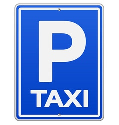 Blue taxi sign and parking vector