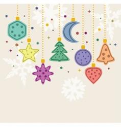 Christmas holiday decoration vector