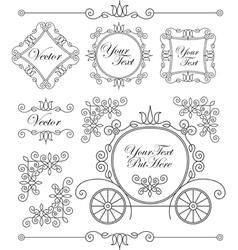 Set vintage ornaments vector