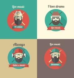Love drums vector