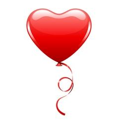 Heart as air balloon with ribbon vector
