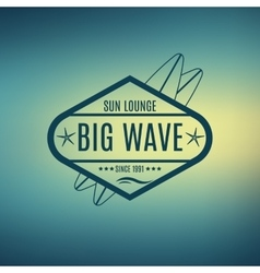 Retro style surfing labels logos vector