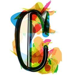 Artistic font - letter c vector