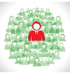 Group of businessmen background vector