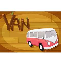 A frame with a van vector