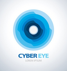 Cyber eye symbol icon vector