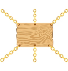 Board on chain from gild vector