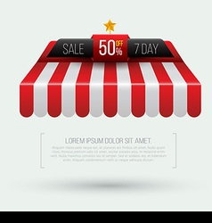 Awning seven day sale banner roof vector
