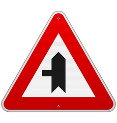 Left crossroad sign vector