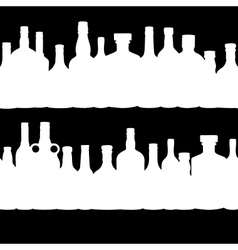 Silhouette alcohol bottle seamless pattern vector