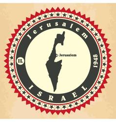 Vintage label-sticker cards of israel vector
