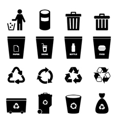 Garbage icon vector