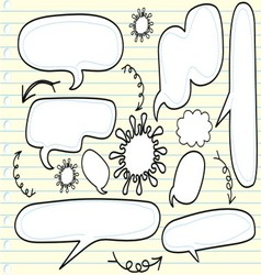 Sketchy bubble speech vector