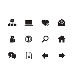Network icons on white background vector