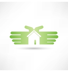 House hand icon vector