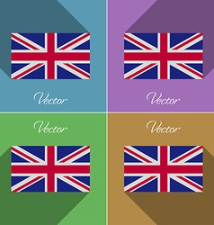 Flags united kingdom set of colors flat design and vector
