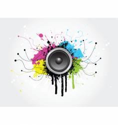 Grunge sound vector