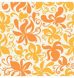 Colored floral pattern vector