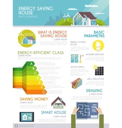 Energy saving house infographics vector