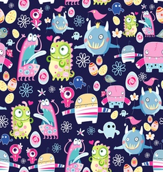 Bright texture of monsters vector