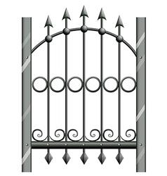A steel gate vector