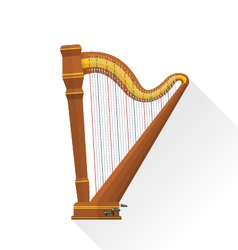Color flat style pedal harp vector