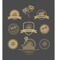 Carnival vintage badges vector