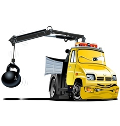 Cartoon tow truck vector