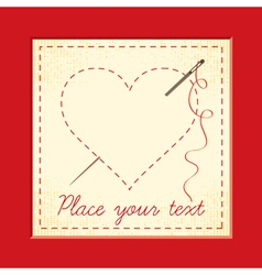 Heart embroidery vector