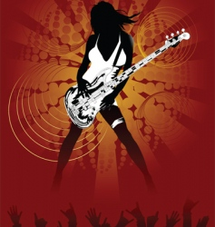 Sexy rock chick vector