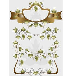 Details for decoration design products of grapes vector