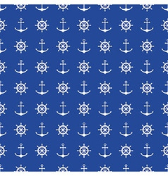 Seamless nautical background vector