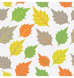 A seamless pattern with leafautumn leaf background vector