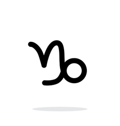 Capricorn zodiac icon on white background vector