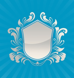 Shield ornament vector