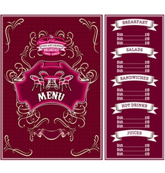 Bordo template for the cover of the menu vector