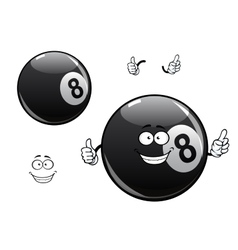 Cartoon billiards snooker pool eight ball vector