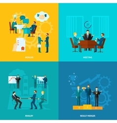 Flat collaboration set vector